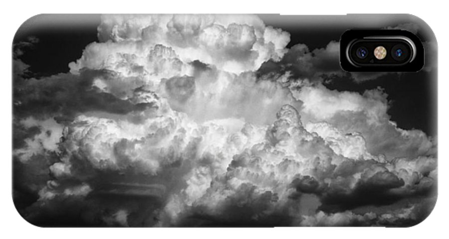 Sky Lines IPhone X Case featuring the photograph Ominous by Samantha Jerred