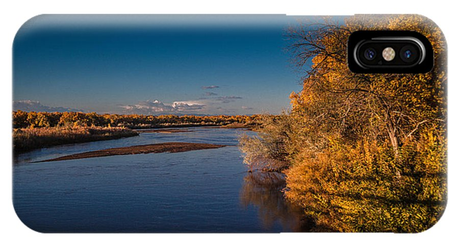 Rio Grande IPhone X Case featuring the photograph On The Rio Grande by Tony Lopez