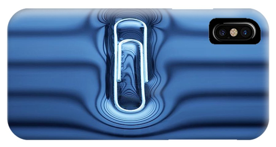 Nobody IPhone X Case featuring the photograph Paperclip Floating On Water Surface by Science Photo Library