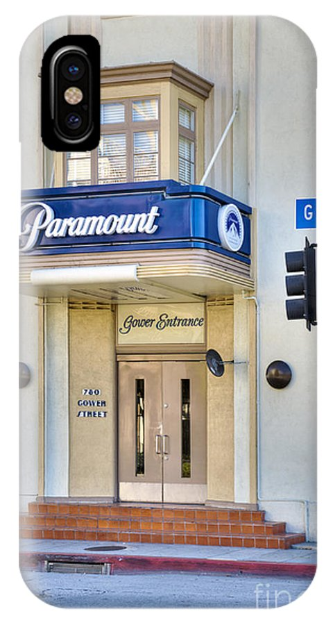 Paramount Studios IPhone X Case featuring the photograph Paramount Movie Studio Hollywood Ca by David Zanzinger