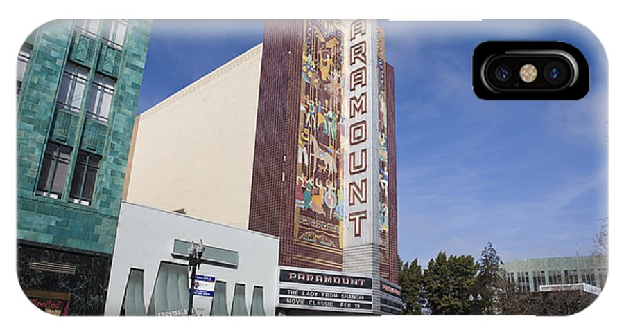 Travel IPhone X Case featuring the photograph Paramount Theatre Oakland California by Jason O Watson