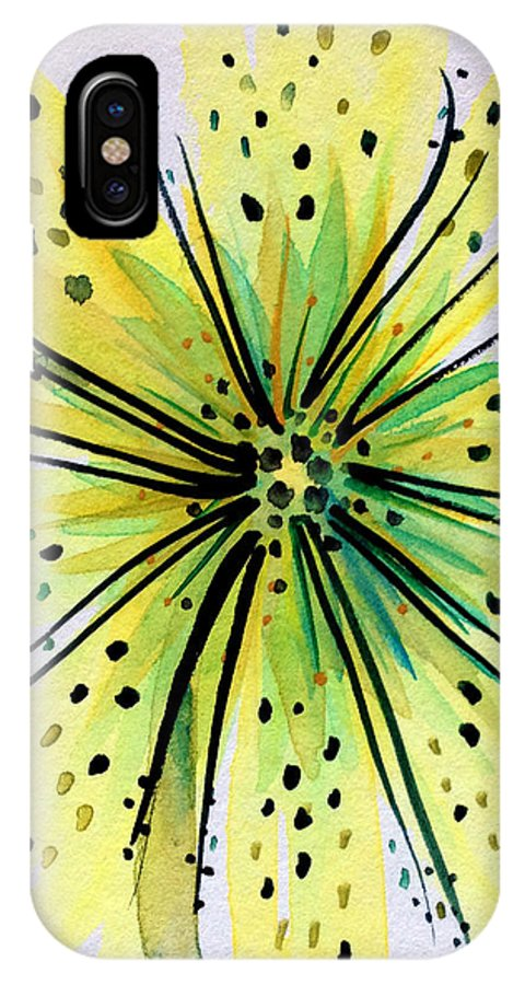 Flor IPhone X / XS Case featuring the painting Pereskias by Patricia Lazaro