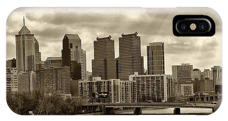 Philadelphia IPhone X Case featuring the photograph Philadelphia Skyline 1 by Jack Paolini