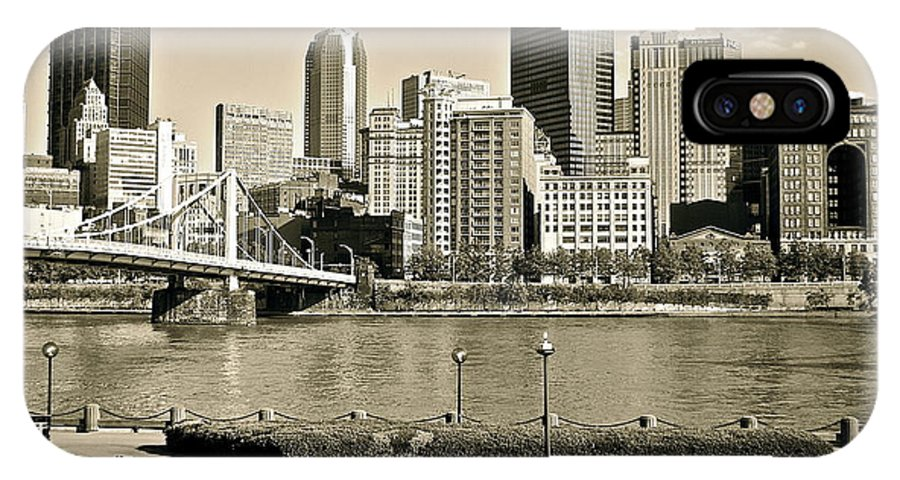Pittsburgh IPhone X Case featuring the photograph Pittsburgh In Sepia by Frozen in Time Fine Art Photography
