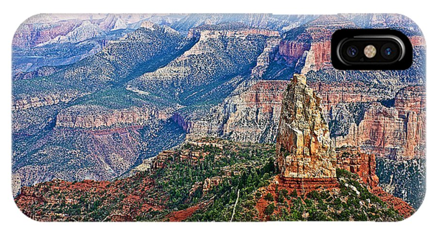 Point Imperial At 8803 Feet On North Rim/grand Canyon National Park IPhone X Case featuring the photograph Point Imperial 8803 Feet On North Rim Of Grand Canyon National Park-arizona by Ruth Hager