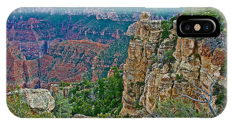 Point Imperial At 8803 Feet On North Rim/grand Canyon National Park IPhone X Case featuring the photograph Point Imperial At 8803 Feet On North Rim Of Grand Canyon National Park-arizona  by Ruth Hager