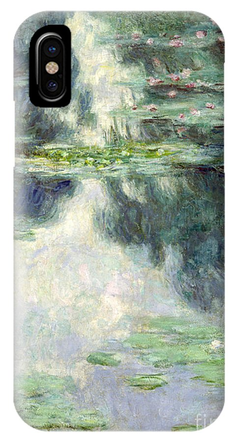 Giverny IPhone X Case featuring the painting Pond With Water Lilies by Claude Monet