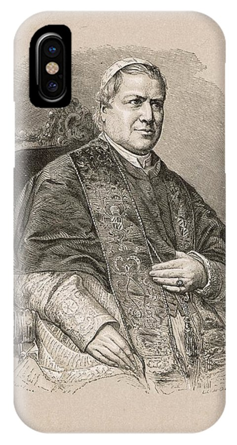 Pope IPhone X Case featuring the drawing Pope Pius Ix (conde Giovanni Maria by Mary Evans Picture Library
