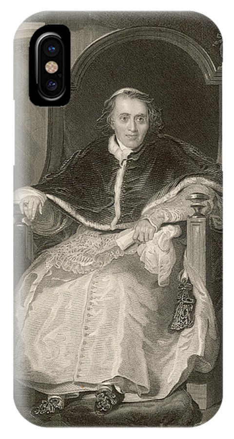 Pope IPhone X Case featuring the drawing Pope Pius Vii (luigi Barnabo by Mary Evans Picture Library