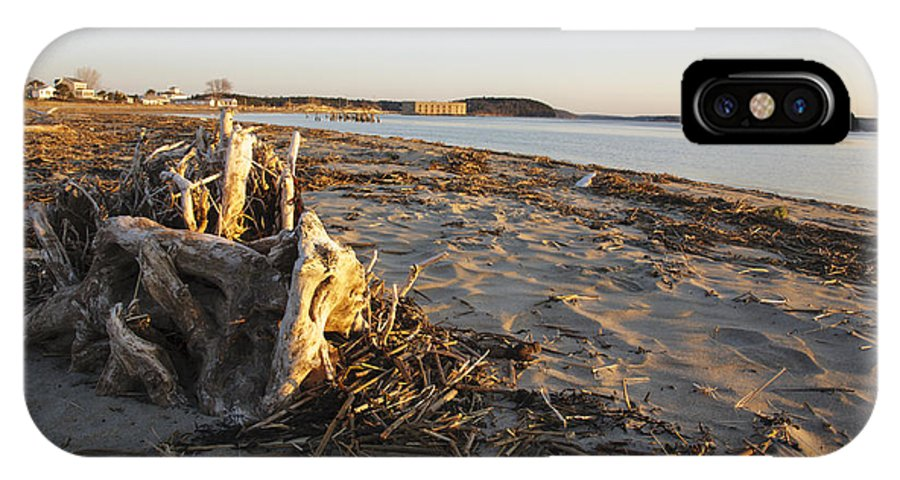 Atkins Bay IPhone X Case featuring the photograph Popham Beach State Park - Phippsburg Maine Usa by Erin Paul Donovan