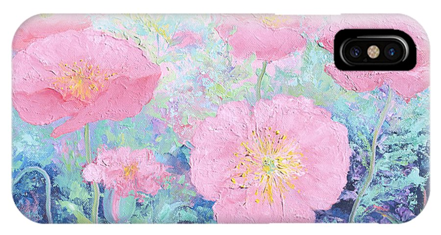 Poppies IPhone X Case featuring the painting Poppy Garden by Jan Matson
