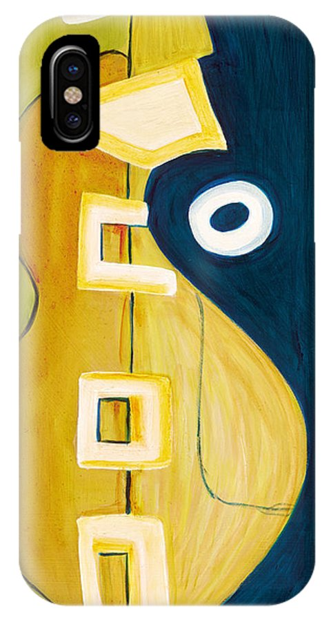 Abstract Art IPhone X Case featuring the painting Portrait Of A Humble Man 4 by Stephen Lucas