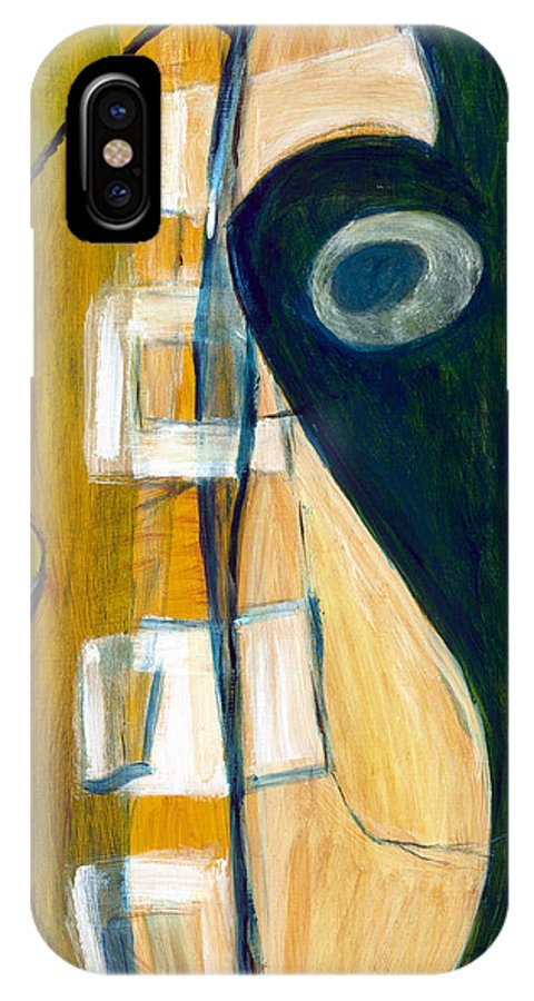Abstract Art IPhone X Case featuring the painting Portrait Of A Humble Man by Stephen Lucas