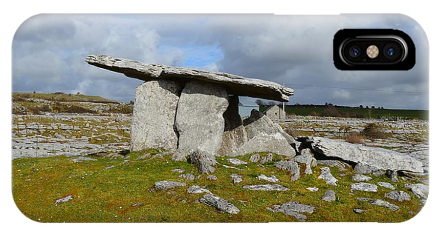Poulnabrone Portal Tomb IPhone X Case featuring the photograph Poulnabrone Portal Tomb by DejaVu Designs