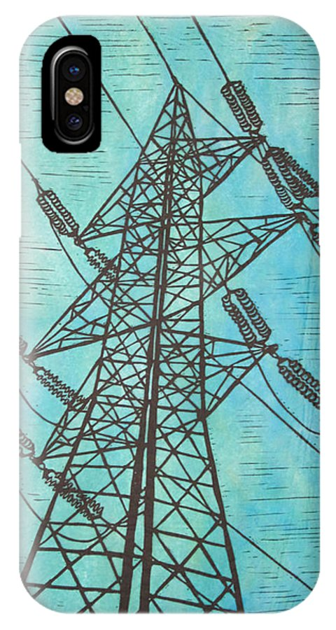 Power IPhone X Case featuring the drawing Power by William Cauthern