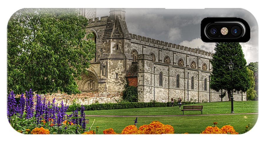 Priory Church IPhone X Case featuring the photograph Priory Church Dunstable by Graham Custance