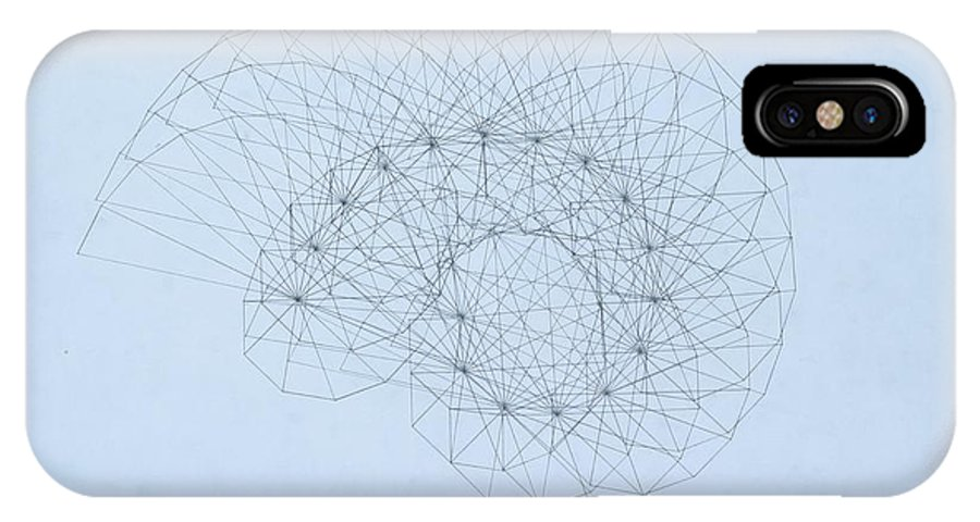 Jason Padgett IPhone X Case featuring the drawing Quantum Nautilus by Jason Padgett