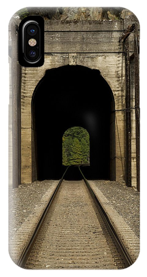 Hill IPhone X Case featuring the photograph Railroad Tunnel 3 Bnsf 1 B by John Brueske