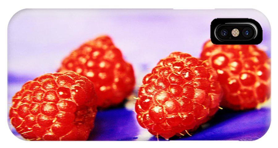 Raspberry IPhone X / XS Case featuring the photograph Raspberries by Lali Kacharava