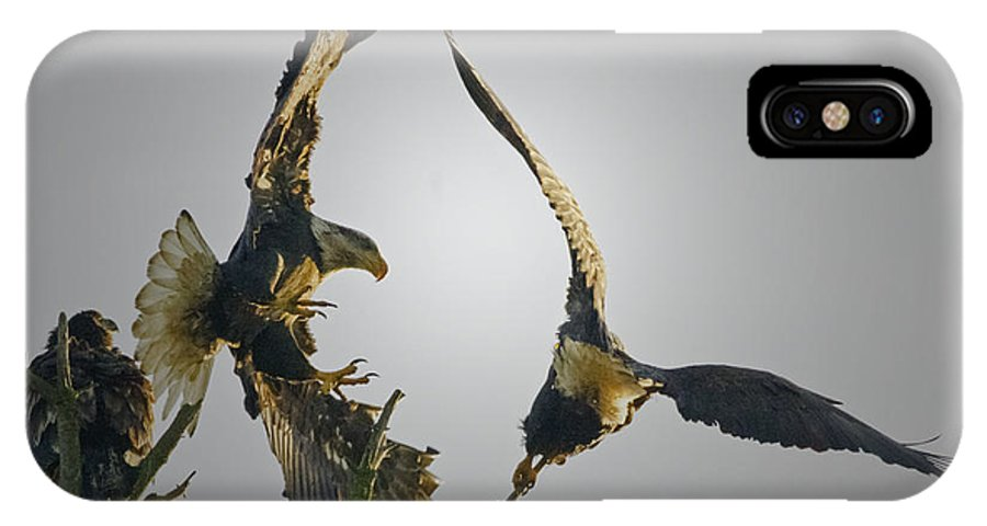 Eagle IPhone X Case featuring the photograph Raw by Rob Mclean