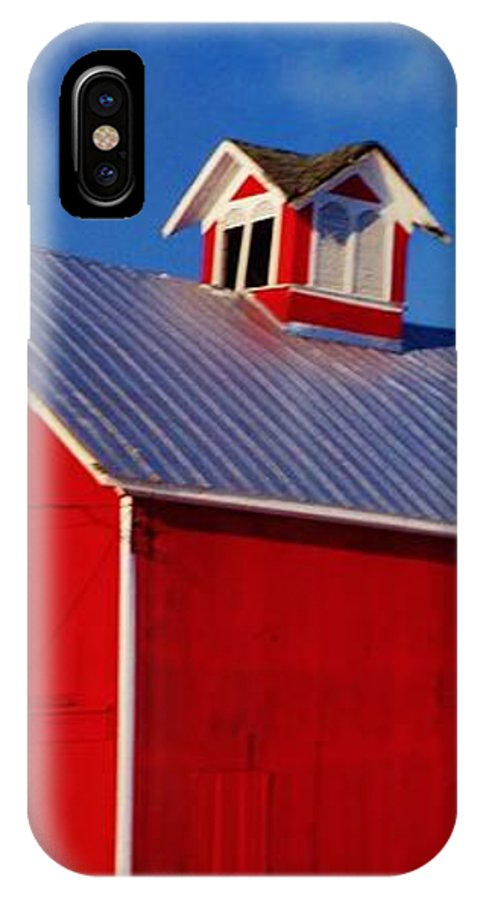 Winter IPhone X / XS Case featuring the photograph Red Barn by Daniel Thompson