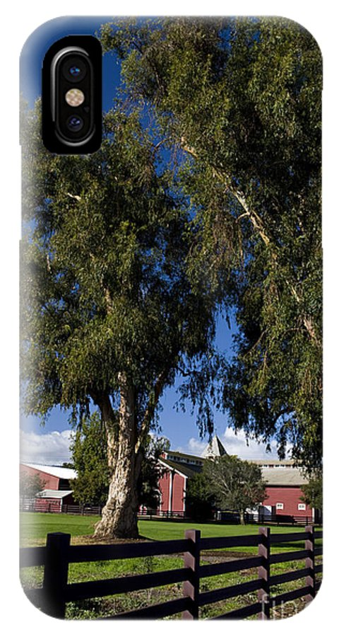 IPhone X Case featuring the photograph Red Barn Stanford University by Jason O Watson