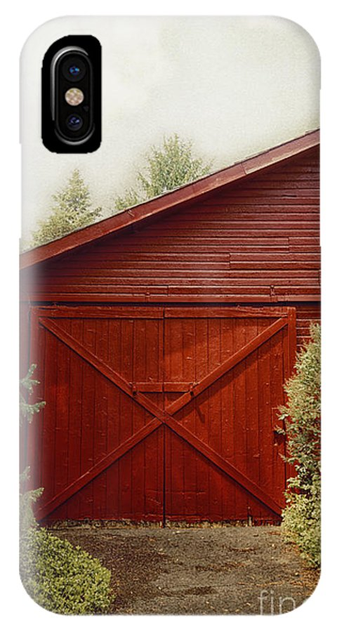 Barn IPhone X Case featuring the photograph Red Door by Margie Hurwich