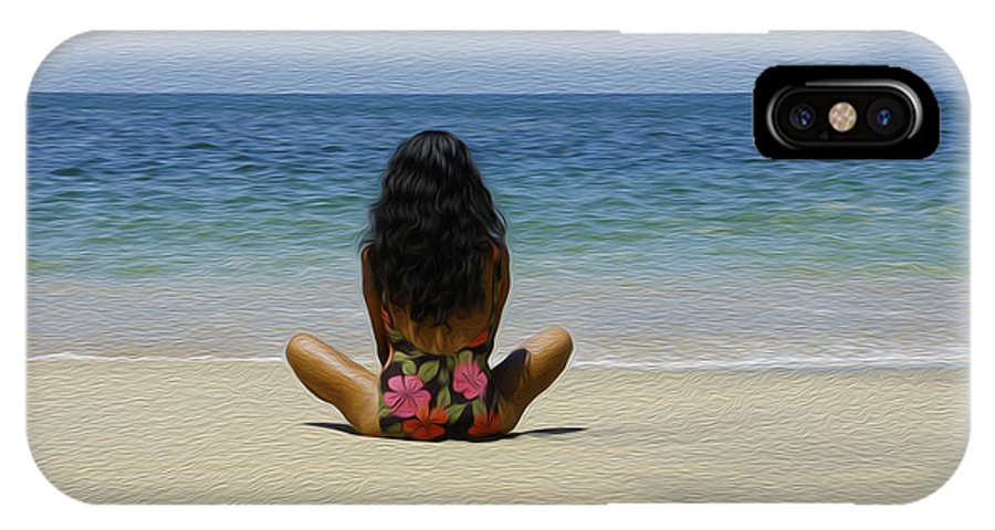 Beach IPhone X Case featuring the photograph Relaxing by Aged Pixel