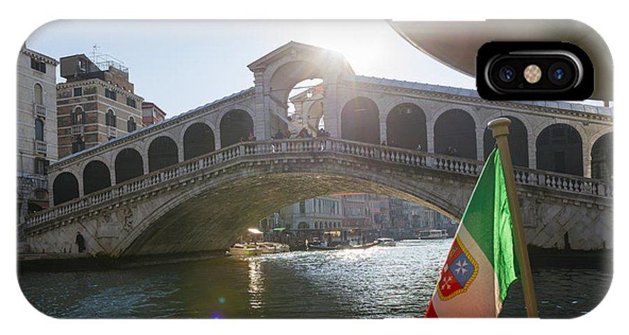 Bridge IPhone X Case featuring the photograph Rialto Bridge by Mats Silvan