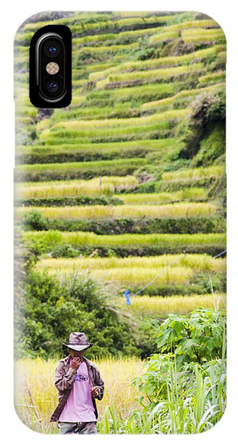 Rice IPhone X Case featuring the photograph Rice Terraces by Tuimages