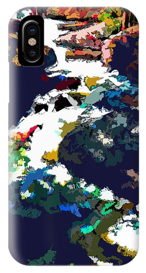 Stream IPhone X Case featuring the digital art Rocky Mountain Stream by John Lautermilch
