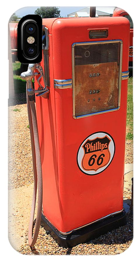66 IPhone X Case featuring the photograph Route 66 Gas Pump by Frank Romeo