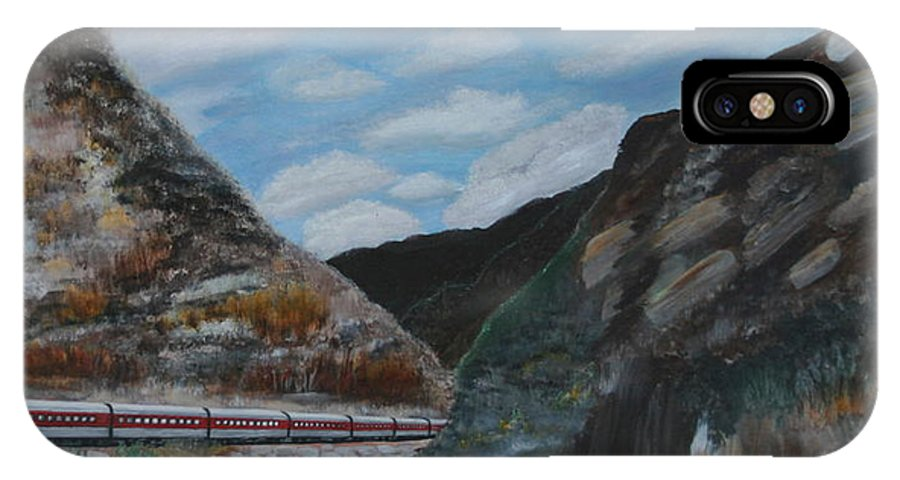 Mountains IPhone X Case featuring the painting Royal Gorge by Mary Grabill