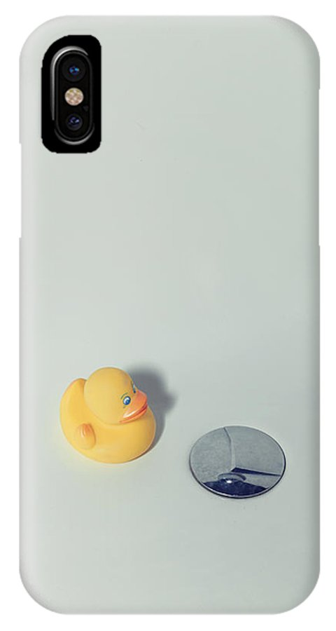 Duck IPhone X Case featuring the photograph Rubber Duck by Joana Kruse