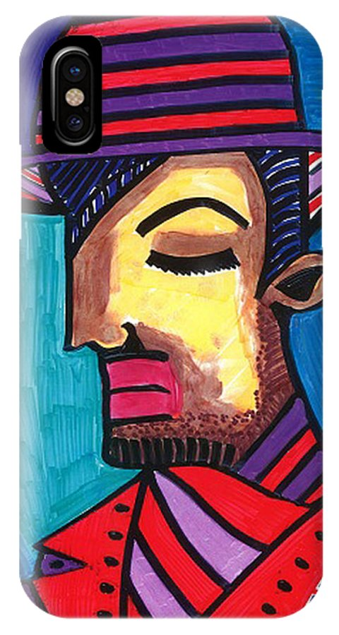 Spain IPhone X / XS Case featuring the drawing Sad Spaniard by Don Koester