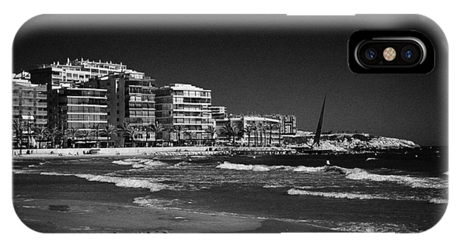 Salou IPhone X Case featuring the photograph Salou Waterfront Properties On The Costa Dorada Catalonia Spain by Joe Fox
