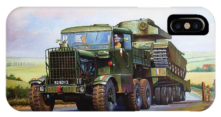 Lorry IPhone X Case featuring the painting Scammell Explorer. by Mike Jeffries