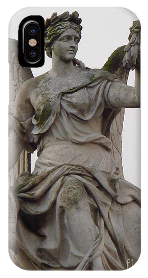 Sculpture IPhone X Case featuring the photograph Sculpture Versailles by Luis Moya