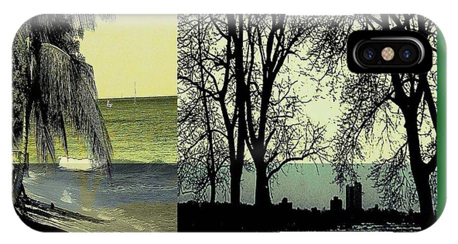 Drawing IPhone X / XS Case featuring the digital art Seasons by Iris Gelbart