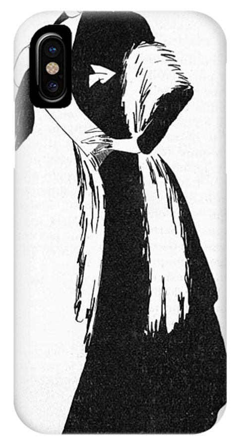 Colette IPhone X Case featuring the drawing Sidonie-gabrielle Willy French by Mary Evans Picture Library