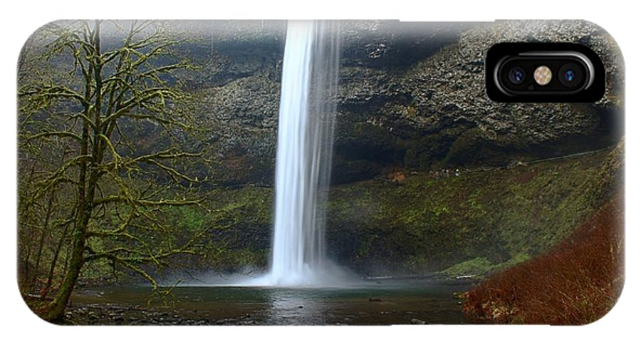 Silver Falls IPhone X Case featuring the photograph Silver Falls In Winter by Mark Woodward
