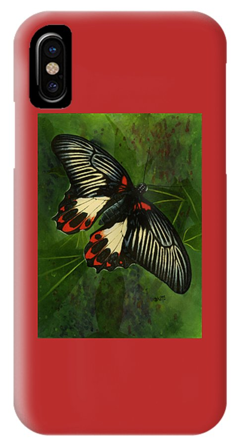 Insect IPhone X Case featuring the mixed media Simplicity by Barbara Keith