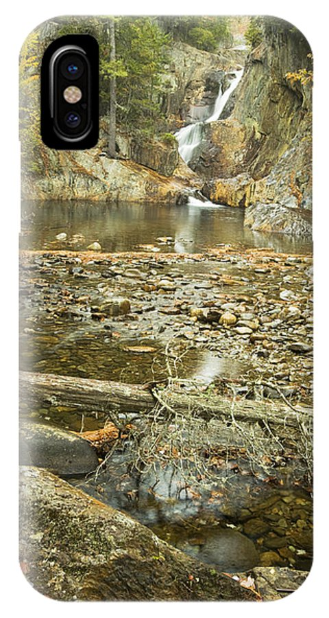 Maine IPhone X Case featuring the photograph Smalls Falls In Autumn Western Maine by Keith Webber Jr