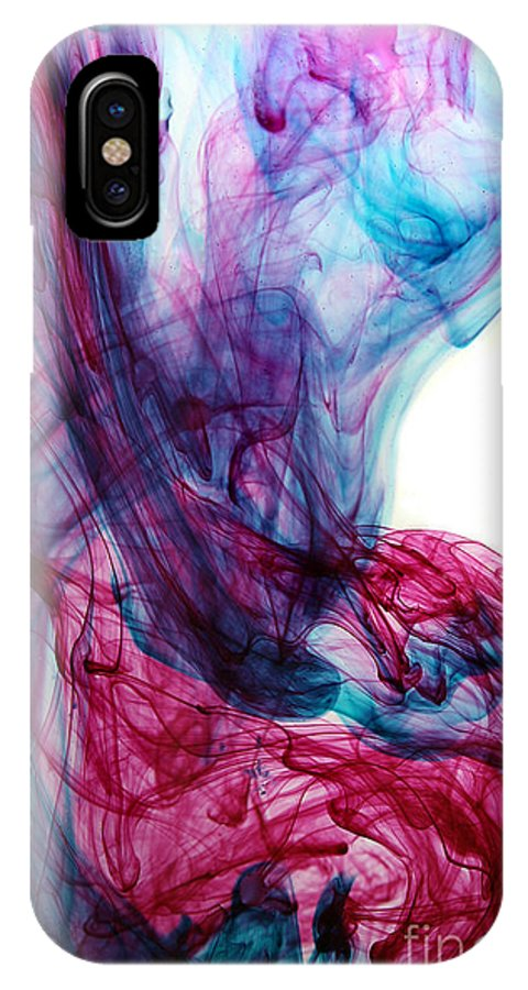 IPhone X Case featuring the mixed media Smoke Art by Dt