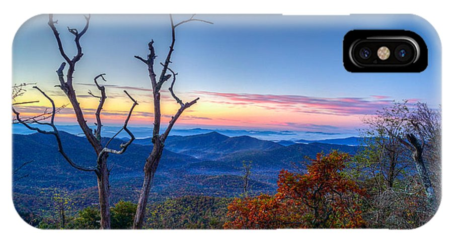 Blue Ridge Parkway IPhone X Case featuring the photograph Smoky Mountains by Matthew Trudeau