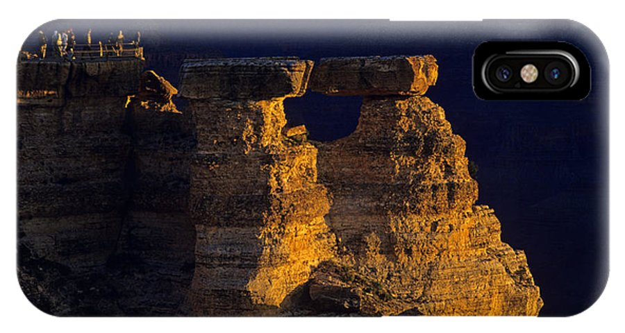 Grand Canyon National Park IPhone X Case featuring the photograph South Rim Grand Canyon Taken Near Mather Point Sunrise Light On by Jim Corwin