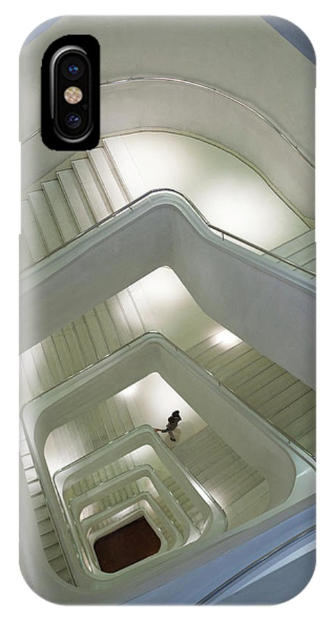 Architect IPhone X Case featuring the photograph Spain, Madrid, Paseo Del Prado Area by Walter Bibikow