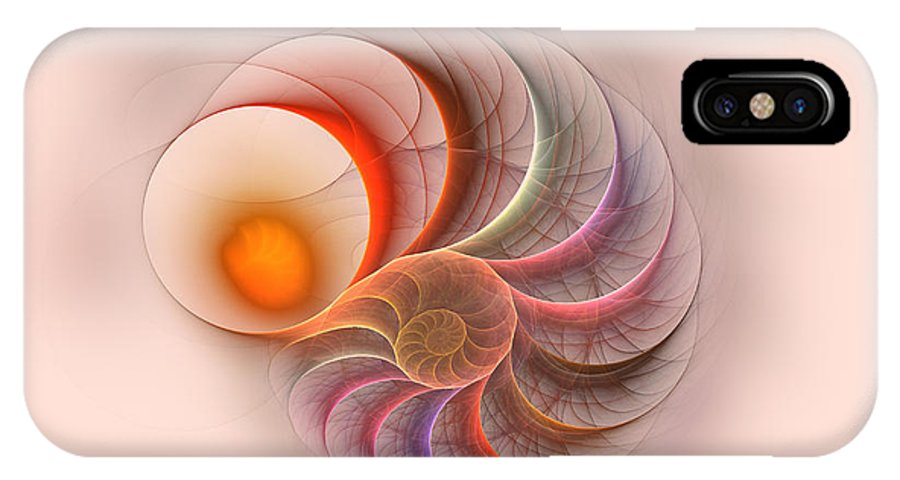 Spirale Fractal Digital Art Color Colorful Abstract IPhone X Case featuring the digital art Spirale by Steve K