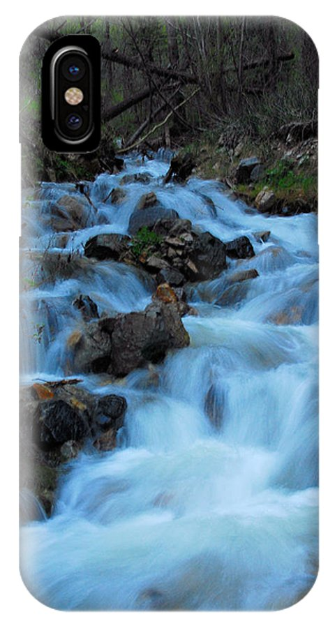 Waterfall IPhone X Case featuring the photograph Spring Runoff by Dan Vallo
