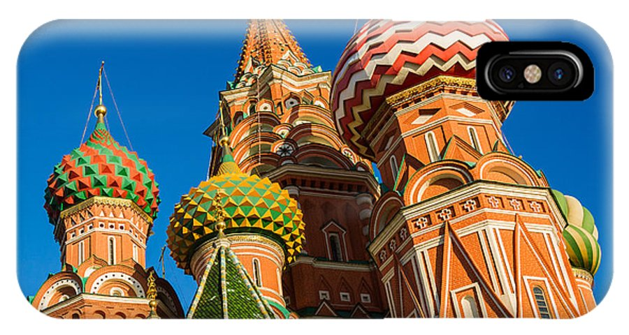 Architecture IPhone X Case featuring the photograph St. Basil's Cathedral - Square by Alexander Senin